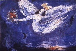 Chagall's  study for The Firebird ballet curtain