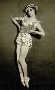 TV studios were so small in 1932 that Markova had to choose ballets like the polka in Facade with little side to side movement.