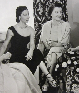 Markova in a little black dress, with sister Doris