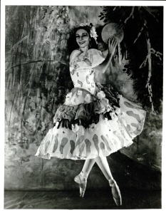 Markova as Aleko's Zemphira in a costume designed by Marc Chagall