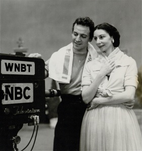 Markova rehearsing with choreographer James Starbuck for Your Show of Shows, 1953