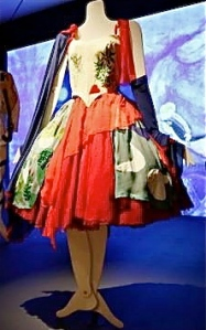 Chagall hand-painted Markova's costume while she modeled it
