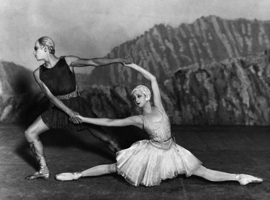 Markova's best friend, the exquisite ballerina Alexandra Danilova, and her future bête-noir, Serge Lifar in Appolon musagète (1928) with costumes by Coco Chanel.