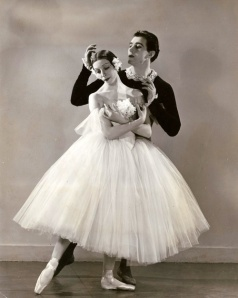 There are 34 yards of fabric in this ethereal ballet skirt.  Markova and Anton Dolin in Gislle.