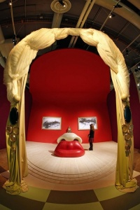 "Dali's theatrical ""Mae West"" room, recently exhibited at the Centre Pompidou in Paris"