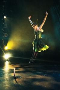 """Dancer Leah Gerstenlauer as """"Absinthe"""" (photo by Nico Malvaldi)"""