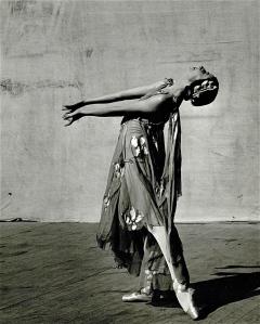 Markova dancing outdoors at Jacob's Pillow, 1941