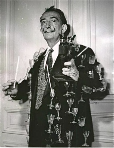 Dali himself in a later version of the aphrodisiac jacket