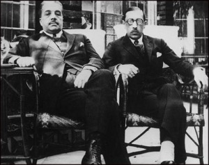 Markova's star-maker Sergei Diaghilev, with her music teacher Igor Stravinsky