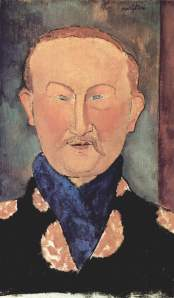 Jewish Ballets Russes designer Léon Bakst painted by fellow Jewish artist Modigliani