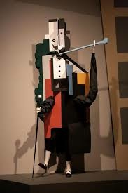 Picasso's cubist cardboard costume for Parade (1917)