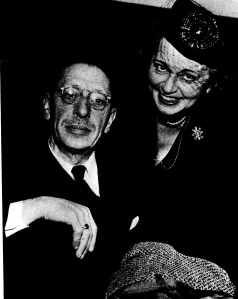 Stravinsky happily married to  second wife Vera Soudekina, both subjects of a fascinating new play Nikolai and the Others at Lincoln Center last spring