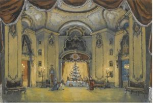 Alexandre Benois set for Nutcracker opening scene