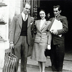 Markova with fellow Ballet Theatre  Brits Hugh Laing (at left) and Antony Tudor (at right).