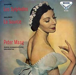 Markova's image enhanced sales of a 1958 Paris orchestra concert album of Les Sylphides, one of her more famous roles.