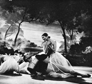 Markova and Erik Bruhn in a BBC production of Giselle, 1955