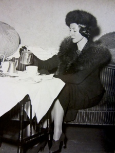 Markova photographed while eating a bountiful tea