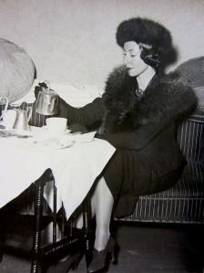 Markova photographed while eating a bountiful tea