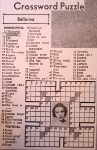 Los Angelos Times crossword puzzle.