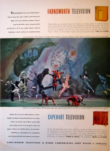 Markova became so associated with TV appearances in the US, that a scene of her dancing was featured in in ad for Farnsworth televisions