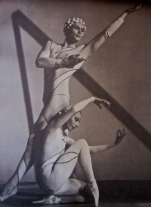 "Markova as ""Woman"" with Andre Eglevsky as ""Man"" in Rouge et Noir"