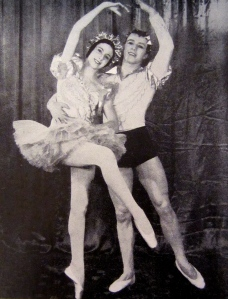 Paltry wages from London's nascent ballet companies necessitated Markova's taking on commercial work to support herself and her family. (Here in the romantic comedy A Kiss in Spring, 1930, with Harold Turner.