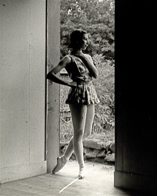 . . . leg warmers! (Here, rehearsing at Jacob's Pillow, 1941)